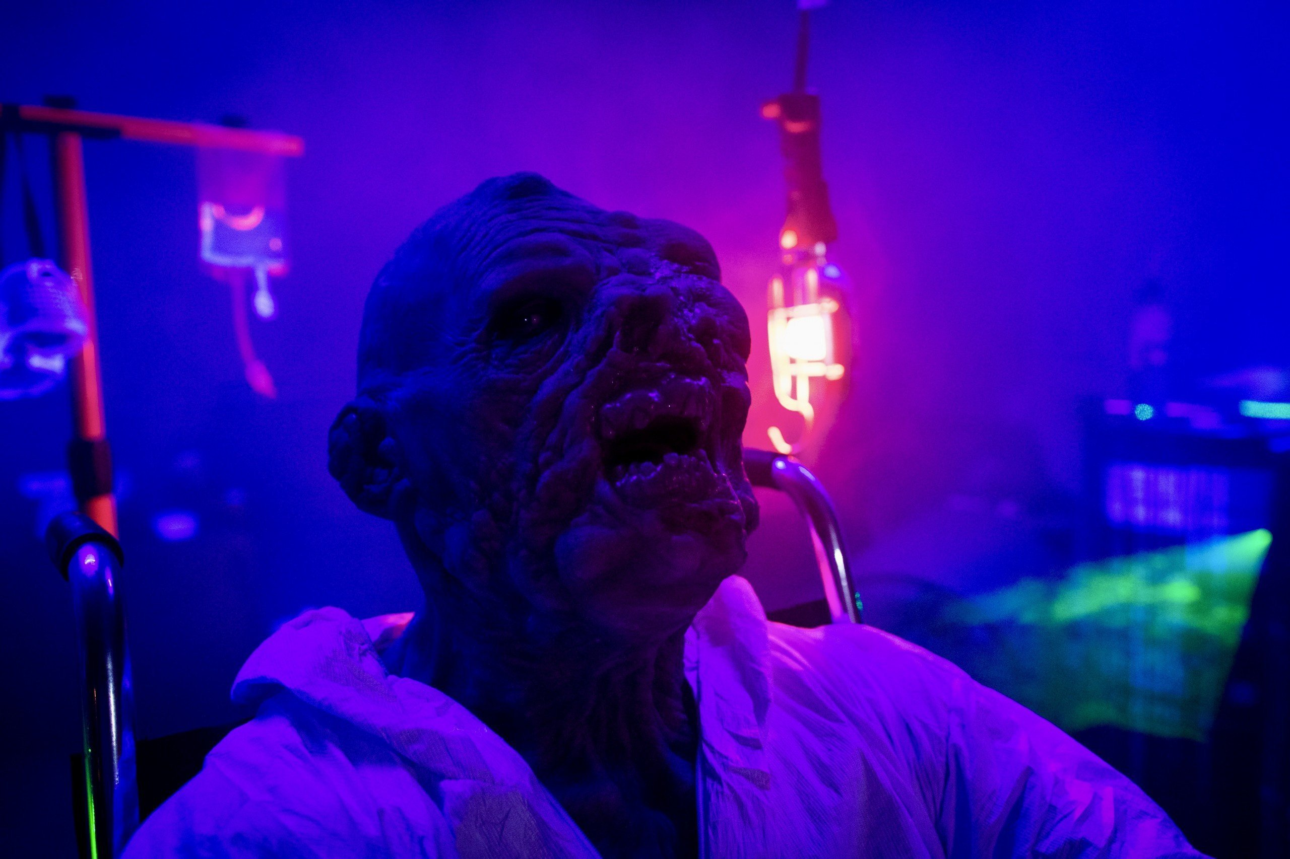 Purple monster at Prism Haunted House